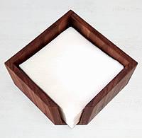 Салфетница деревянная дубовая 145х145х80мм, фото 1