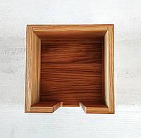 Деревянная салфетница 145х145х75мм