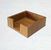 Деревянная салфетница из дуба, фото 1