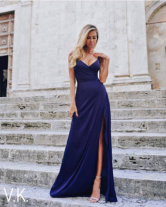Вечернее платье в пол синего цвета 42-44р, фото 2