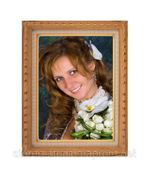 Портрет на холсте по фото под живопись 40*60см
