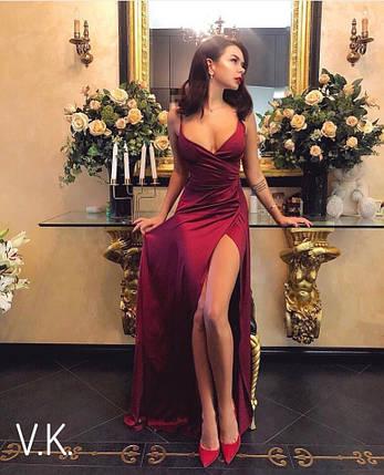 Женское вечернее платье в пол из шелка 42-44р, фото 2
