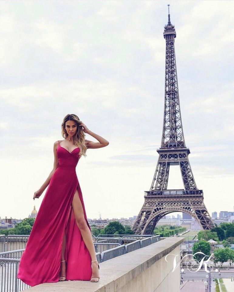 Женское вечернее платье в пол из шелка 42-44р