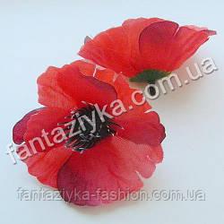 Искусственный цветок мака средний 8см
