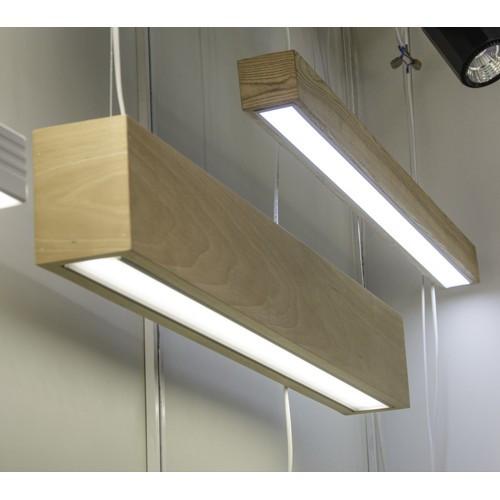 Vela Timber 40W 3800Lm деревянный светодиодный линейный светильник