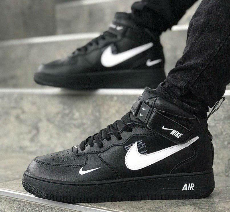 Black Nike Air Force 1 Mid 07 L.V.8 Utility Pack