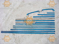Молдинг двери ВАЗ 2103, 2106 ХРОМ! (полный комплект на авто) (накладки дверей) (пр-во Сызрань Россия) ПД 80630