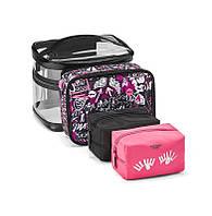 Набор косметичек victoria s secret 4-in-1 Beauty Bag Set дорожный кейс косметички  виктория dc07d12ef9b9d