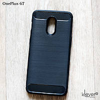 "TPU чехол накладка для OnePlus 6T (black ""Carbon"")"