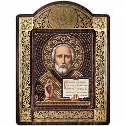 "Набор для вышивки икон в рамке-киоте ""Св. Николай Чудотворец"""