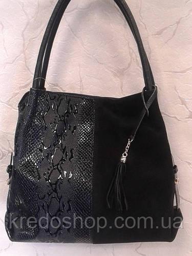 897e33e42628 Сумка женская замшевая стильная черного цвета.: продажа, цена в Кривом  Роге. женские сумочки и клатчи от