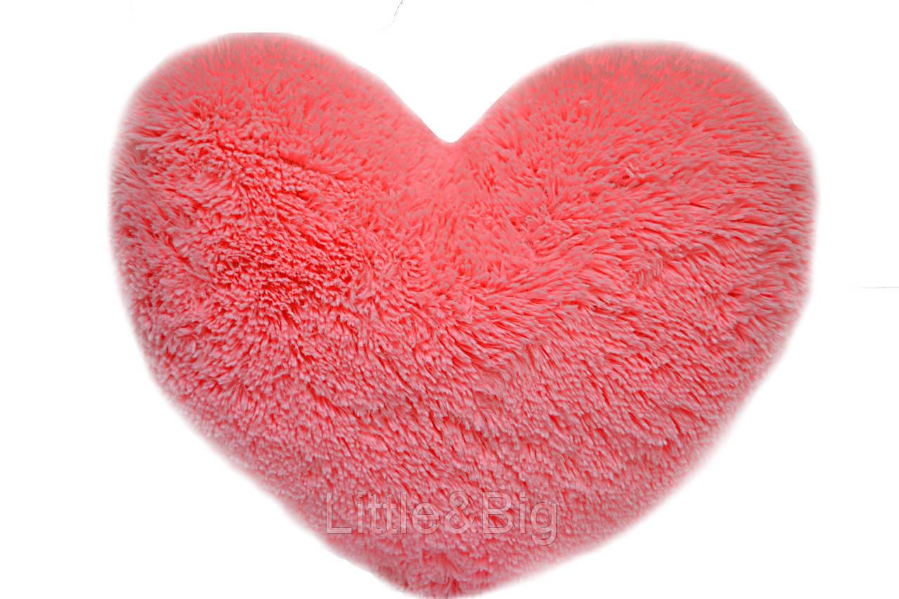 Подушка Сердце розовый 37 см