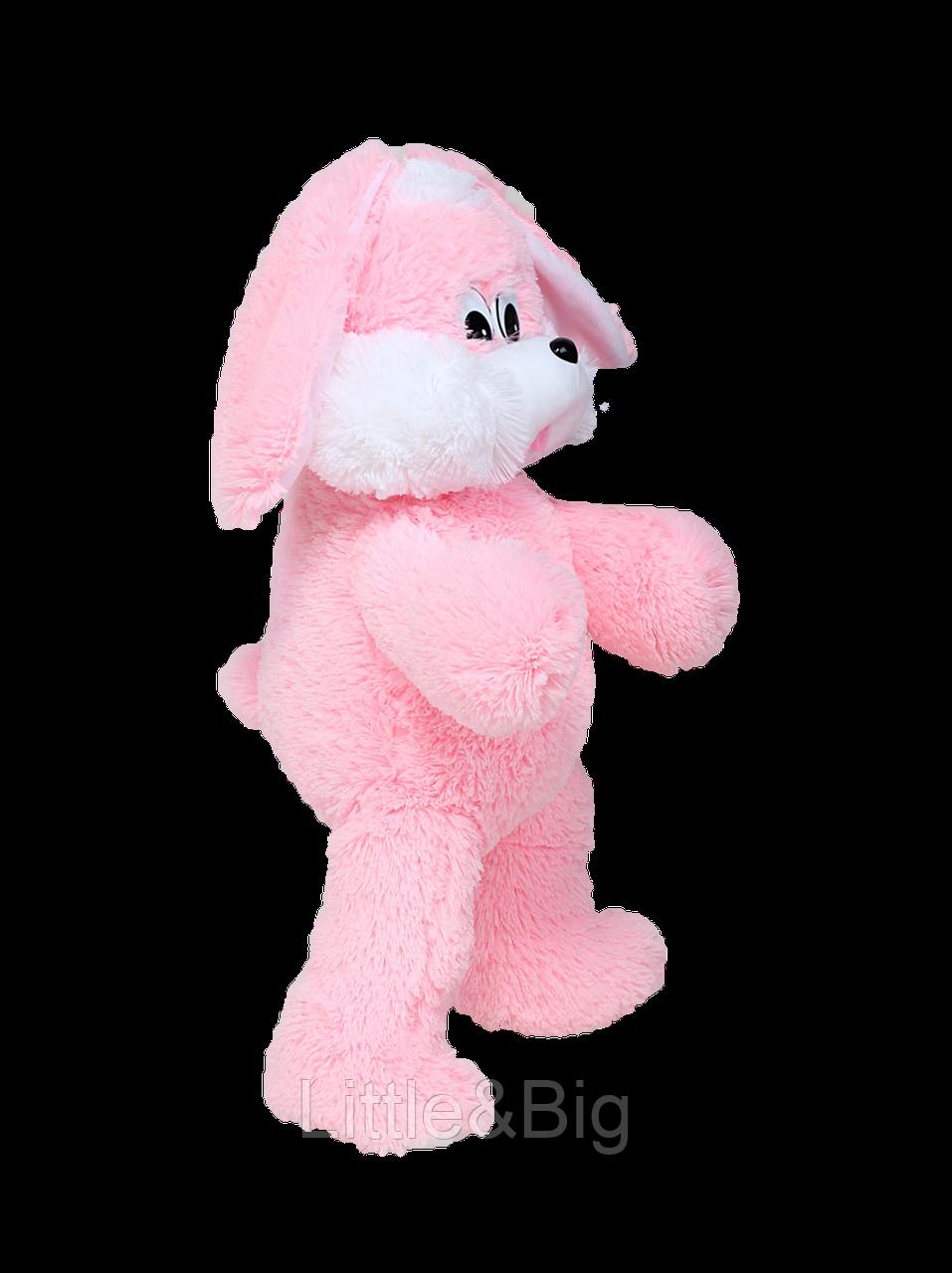Мягкая игрушка  зайка Снежок 65 см розовый