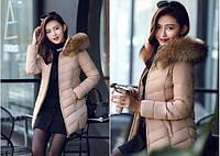 Женская зимняя куртка с мехом. Модель 6379., фото 9