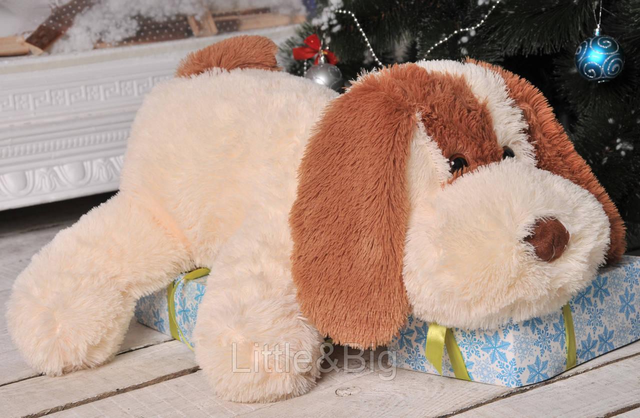 Собачка  Шарик 75 см персиковый
