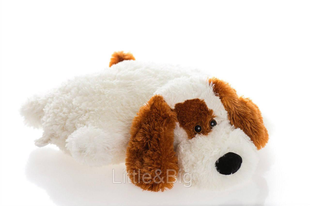 Подушка  собачка Шарик 45 см белый