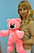 Плюшевый медведь Бублик 45 см розовый, фото 3