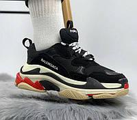 Balenciaga Tripe-S black white red   кроссовки женские и мужские; черные/красные/белые баленсиага