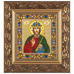 """Набор для вышивки иконы бисером и камнями 15х13см """"Христос Спаситель"""""""
