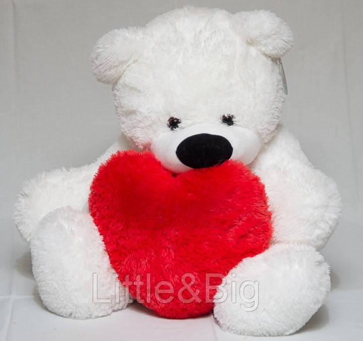Медведь Бублик  140 см с сердцем 50см