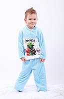Пижама махровая с рисунком, фото 1