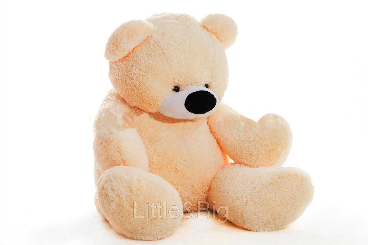 Большой медведь  Бублик 180 см персиковый