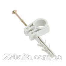 Обойма для труб и кабеля Ø15-16 c ударным шурупом