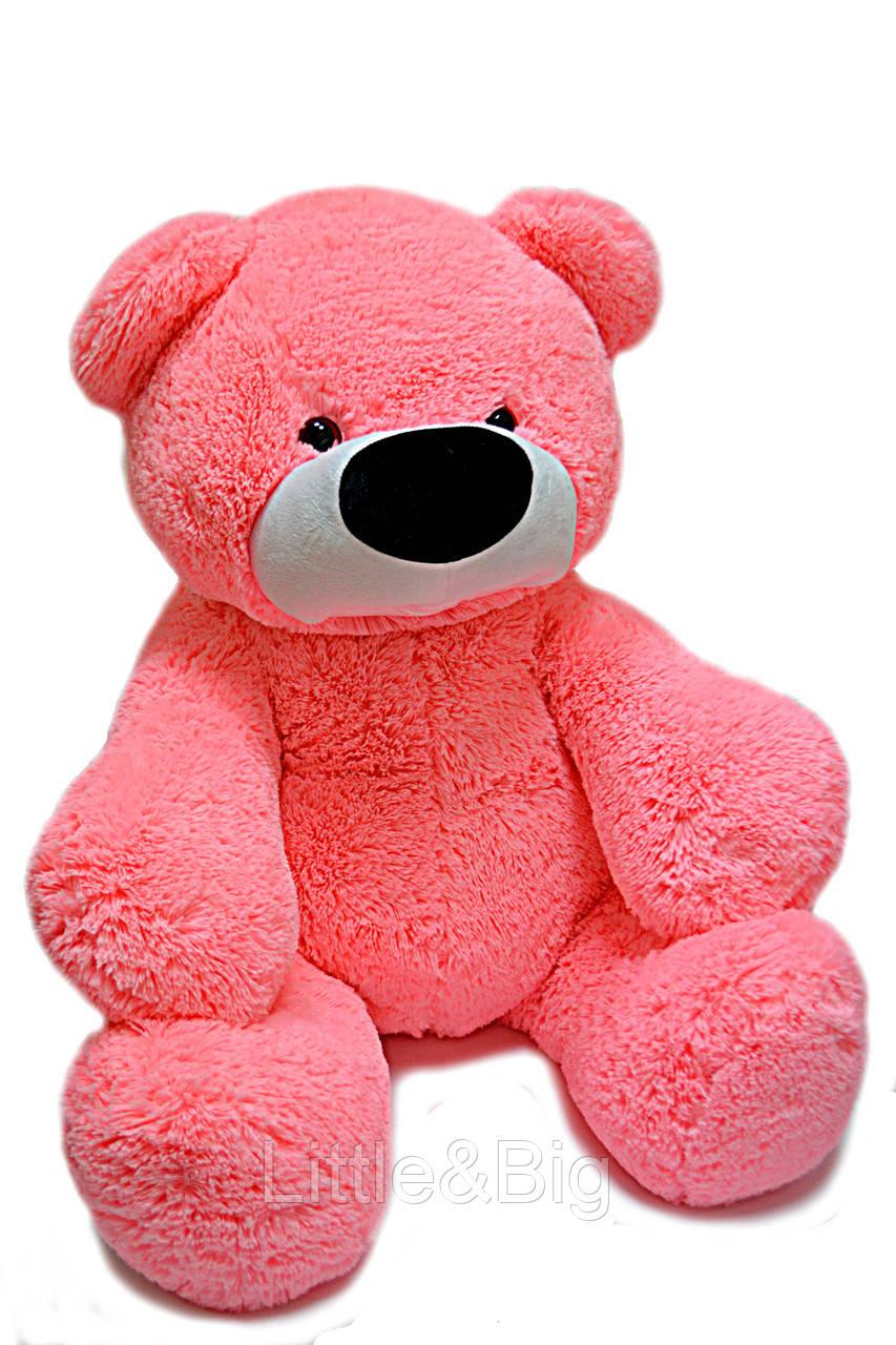 Большой медведь Бублик 200 см розовый