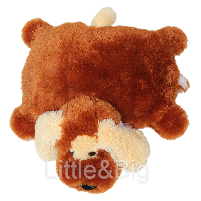 Подушка  собачка Шарик 55 см коричневый