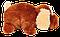 Подушка  собачка Шарик 55 см коричневый, фото 2
