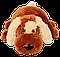 Подушка  собачка Шарик 55 см коричневый, фото 3