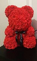 Мишка из красных 3D роз  (40 см)