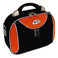 Велика Сумка-саквояж RGL мод 773 + Плечевий ремінь чорно-оранж