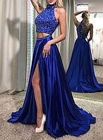 Шикарное Вечернее платье атласное.  Атласное платье на выпускной
