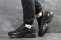 Зимние кроссовки на меху в стиле Nike 95, полностью черные (6687) e1c6b682574