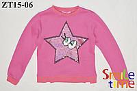 Свитшот детский утепленный р.104,110,116,122,128 SmileTime Star, малиновый
