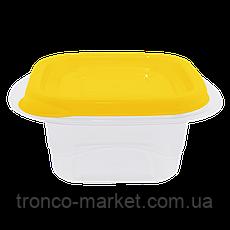 """Набор контейнеров для пищевых продуктов """"Омега"""" квадратных 2,1л. (3 шт.), фото 3"""