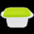 """Набор контейнеров для пищевых продуктов """"Омега"""" квадратных 2,1л. (3 шт.), фото 2"""