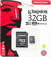 Карта памяти Kingston microSDHC 32GB Class 10 SDHC + адаптер