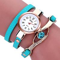 Наручные женские часы с бирюзовым ремешком код 208, фото 1