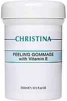 CHRISTINA Peeling Gommage with vitamin E - Пилинг-гоммаж с витамином Е для всех типов кожи, 250 мл