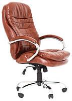 Офисное кресло руководителя Richman Валенсия-В 1220х540х530 мм коричневое