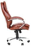 Офисное кресло руководителя Richman Валенсия-В 1220х540х530 мм коричневое, фото 2