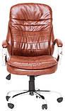 Офисное кресло руководителя Richman Валенсия-В 1220х540х530 мм коричневое, фото 3