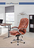 Офисное кресло руководителя Richman Валенсия-В 1220х540х530 мм коричневое, фото 4