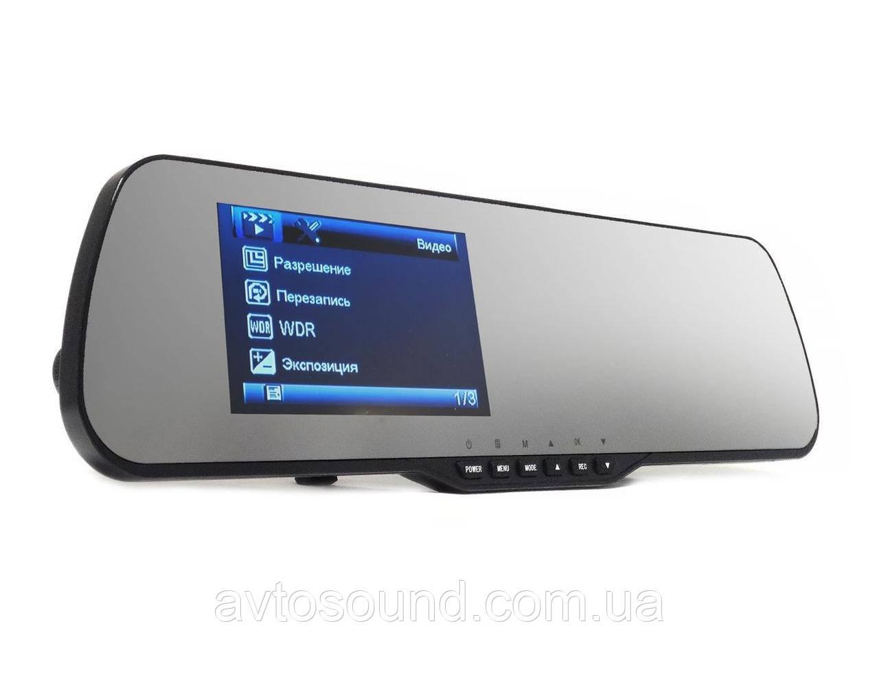 Дзеркало з відеореєстратором Falcon HD70-LCD