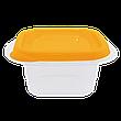 """Контейнер (емкость) для пищевых продуктов """"Омега"""" квадратный - 0,45л, фото 4"""