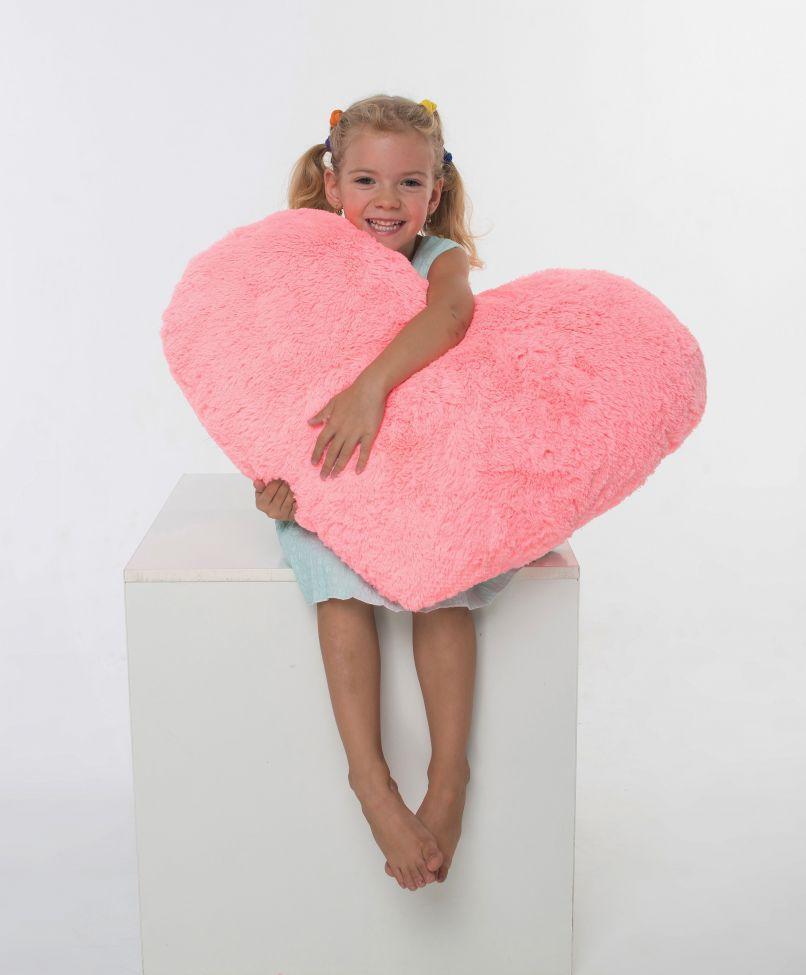 Подушка-сердце  розовое 75 см