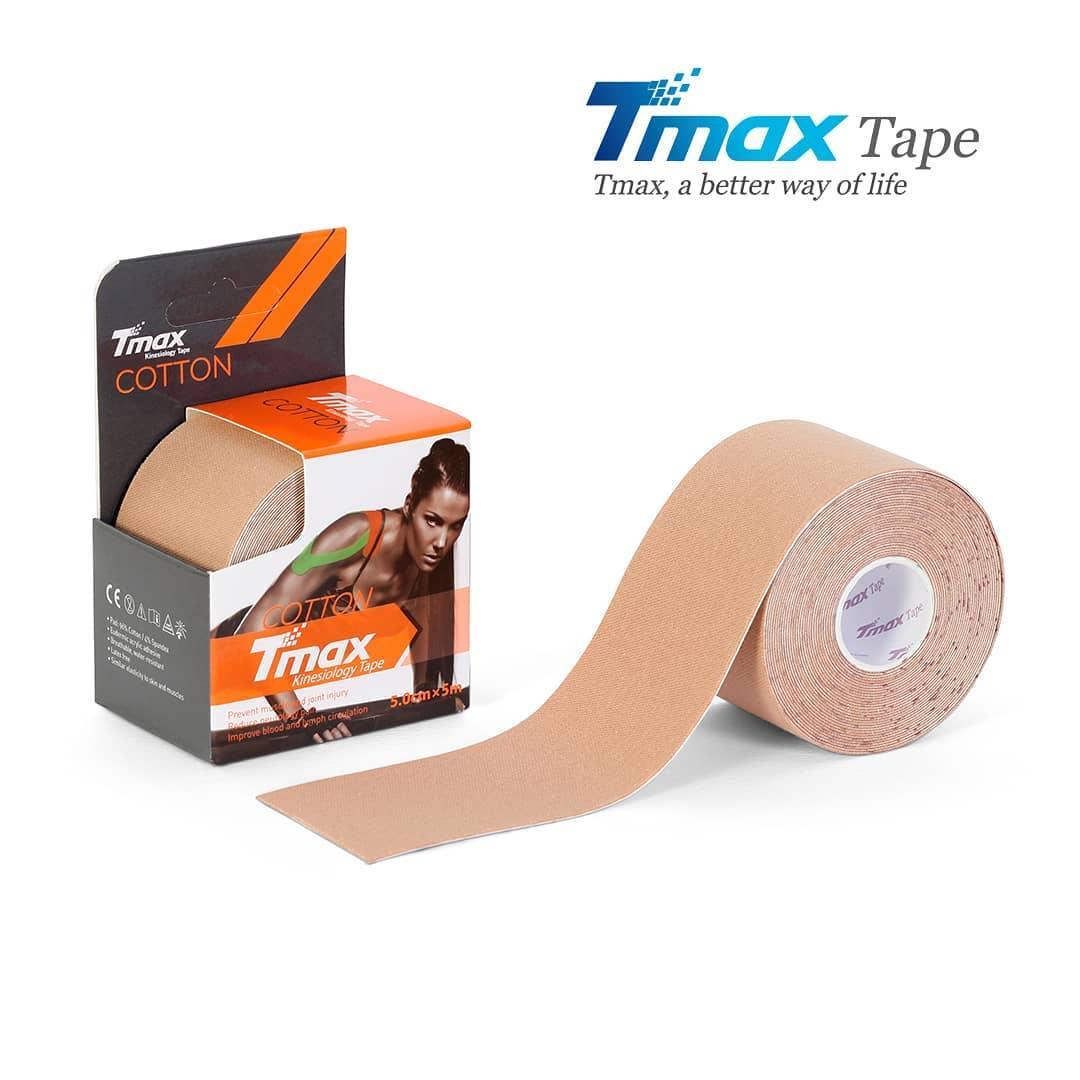 Кинезио тейп Tmax Cotton Tape X 5cm 5m (бежевий)