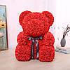Мишка из красных 3D роз (25 см), фото 6